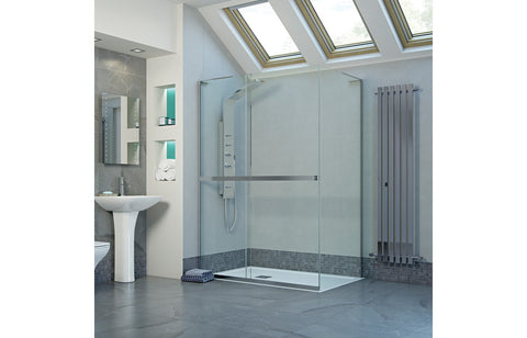 RefleXion 8 Frameless 500mm Side Panel for Sliding Doors/Wetroom