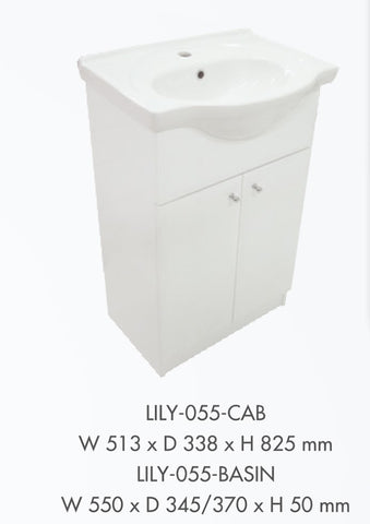 Lily Bathroom Vanity Unit