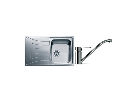 Sink Pack: Teka Universo 79 1B St/Steel Sink & Single Lever Tap - Chrome