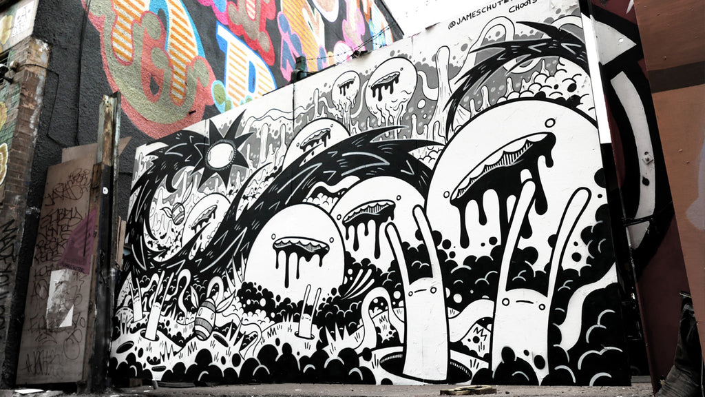 James Chuter Street Artist Mural work Doers of London