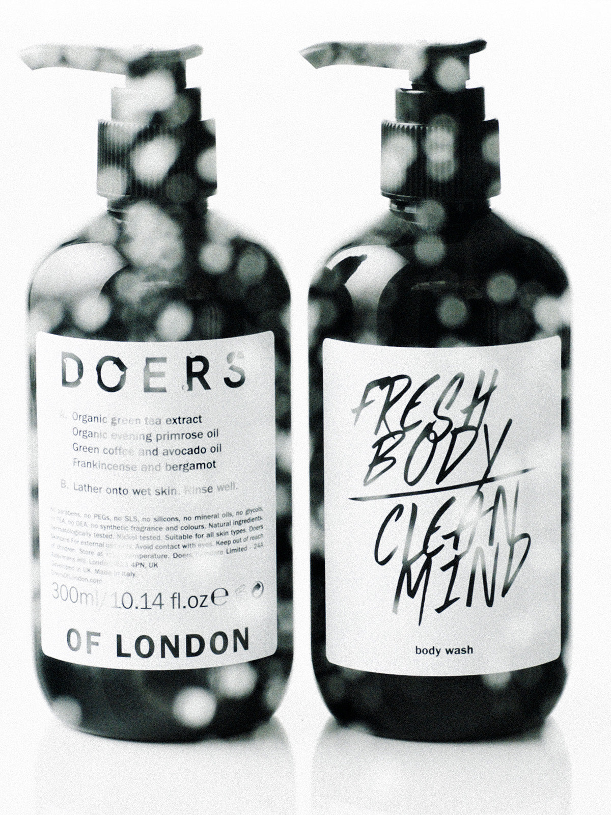 Doers of London Body Wash 300ml front and back