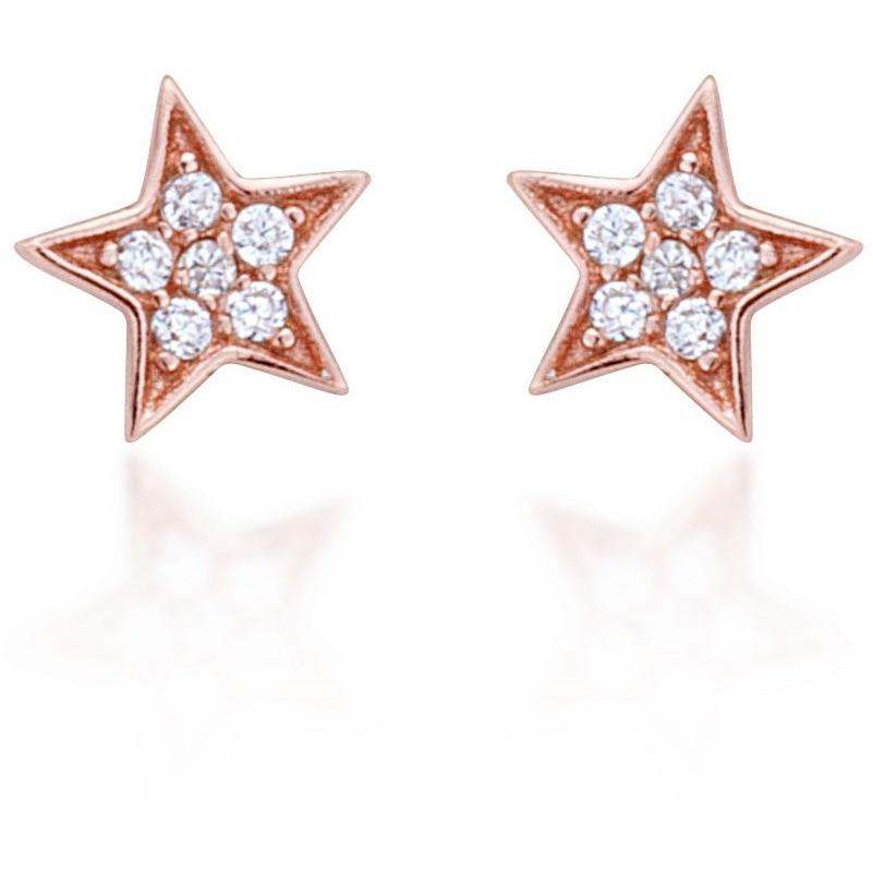 STAR STUD ROSE GOLD VERMEIL