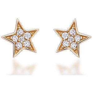 STAR STUD YELLOW GOLD VERMEIL