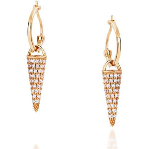 LONG SPIKE YELLOW GOLD VERMEIL