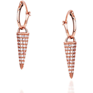 LONG SPIKE ROSE GOLD VERMEIL