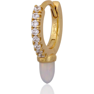 LONG OPAL YELLOW GOLD VERMEIL
