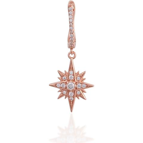 HANGING STAR ROSE GOLD VERMEIL