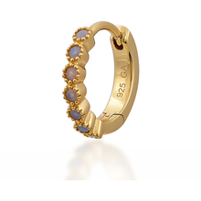 OPAL DOTS YELLOW GOLD VERMEIL HUGGIE