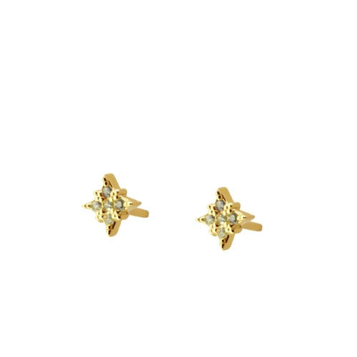BURST STUD YELLOW GOLD VERMEIL