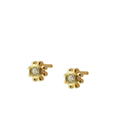 SUN STUD YELLOW GOLD VERMEIL