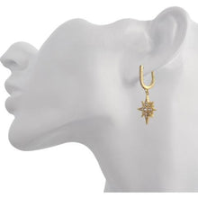HANGING STAR YELLOW GOLD VERMEIL