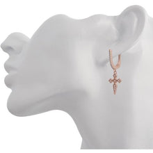 HANGING CROSS ROSE GOLD VERMEIL