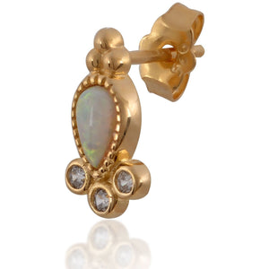 POPPY OPAL YELLOW GOLD VERMEIL STUD
