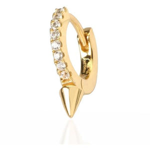 SINGLE SPIKE YELLOW GOLD VERMEIL HUGGIE