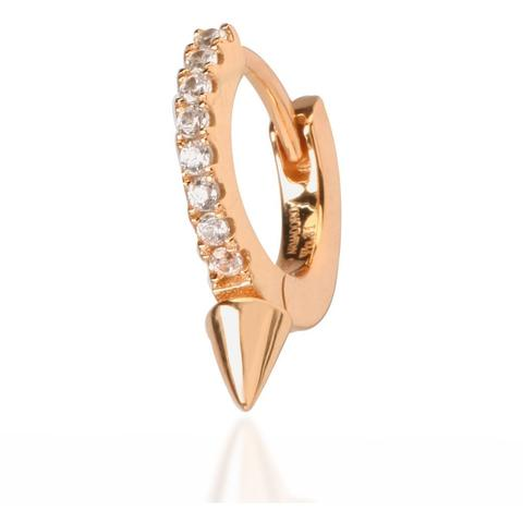 SINGLE SPIKE ROSE GOLD VERMEIL HUGGIE