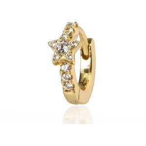 STAR YELLOW GOLD VERMEIL HUGGIE