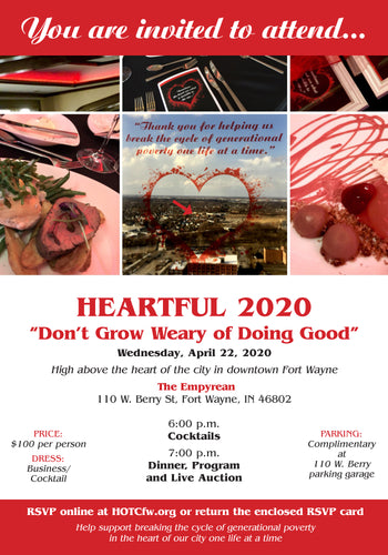 Heartful 2020 Attendance Donation: April 22nd Event Date