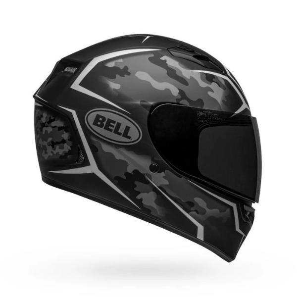 Bell Qualifier Stealth Camo Matte Helmet - Black White