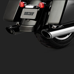 Vance & Hines Exhausts - Twin Slash Round Slip-ons - Touring