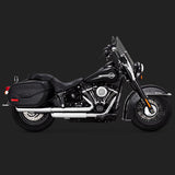 "Vance & Hines Exhausts - Twin Slash 3"" Slip-ons - Softail Deluxe 2018+"