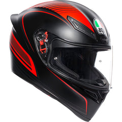 AGV K1 Warmup Matt Helmet - Black Red