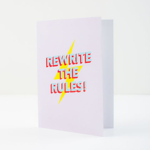 Rewrite The Rules Greeting Card