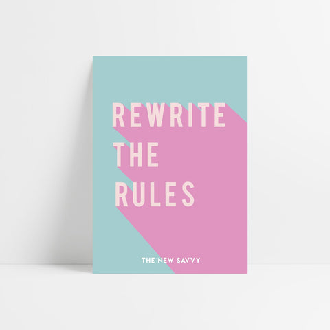 Rewrite The Rules V.1 Poster