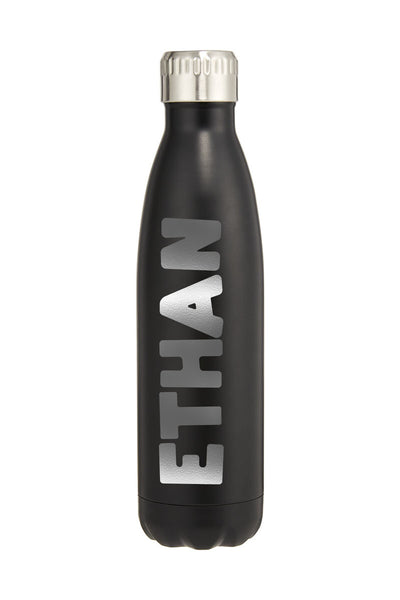 Personalised Black Insulated Bottle 500ml