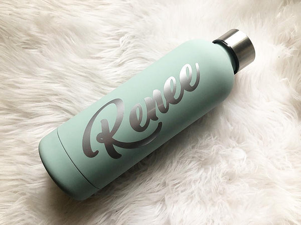 Personalised Sage Insulated Bottle 500ml