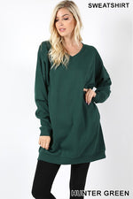 OVERSIZED V-NECK SWEATSHIRTS