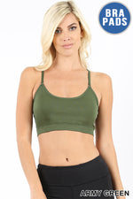 CROSS BACK PADDED SEAMLESS ADJUSTABLE STRAPS - Zenana Outfitters Women's Clothing
