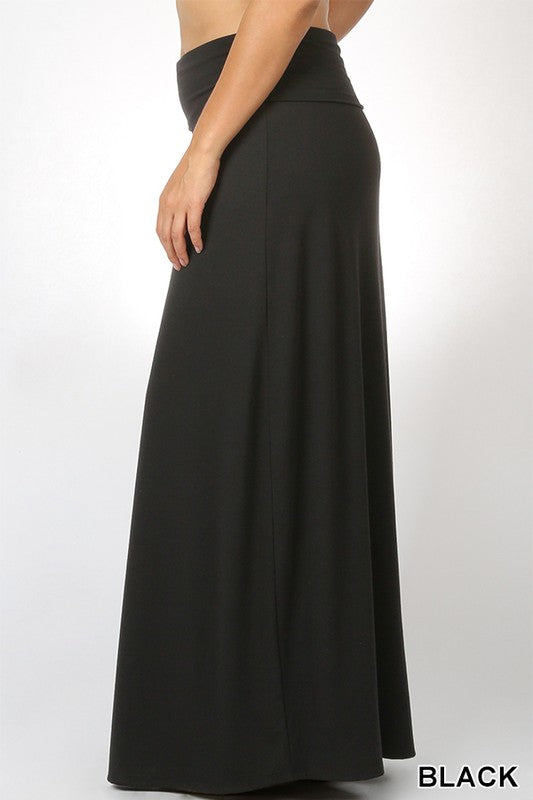 PLUS PREMIUM RAYON RELAXED FIT MAXI SKIRT