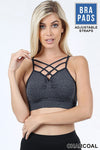 SEAMLESS DOUBLE CRISS CROSS BRALETTE