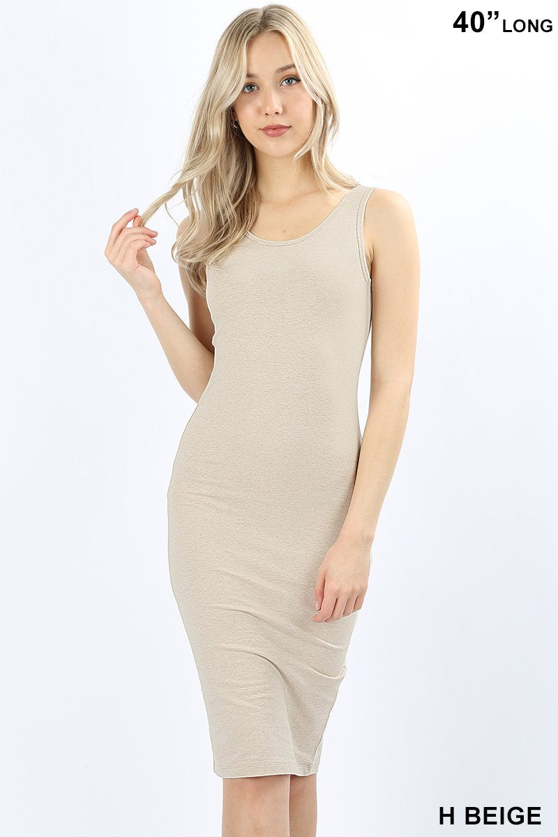 PREMIUM COTTON CLASSIC MIDI DRESS