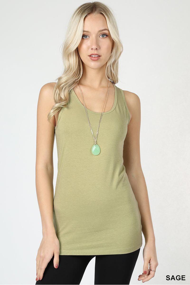 COTTON SPANDEX RACERBACK TANK - Zenana Outfitters Women's Clothing