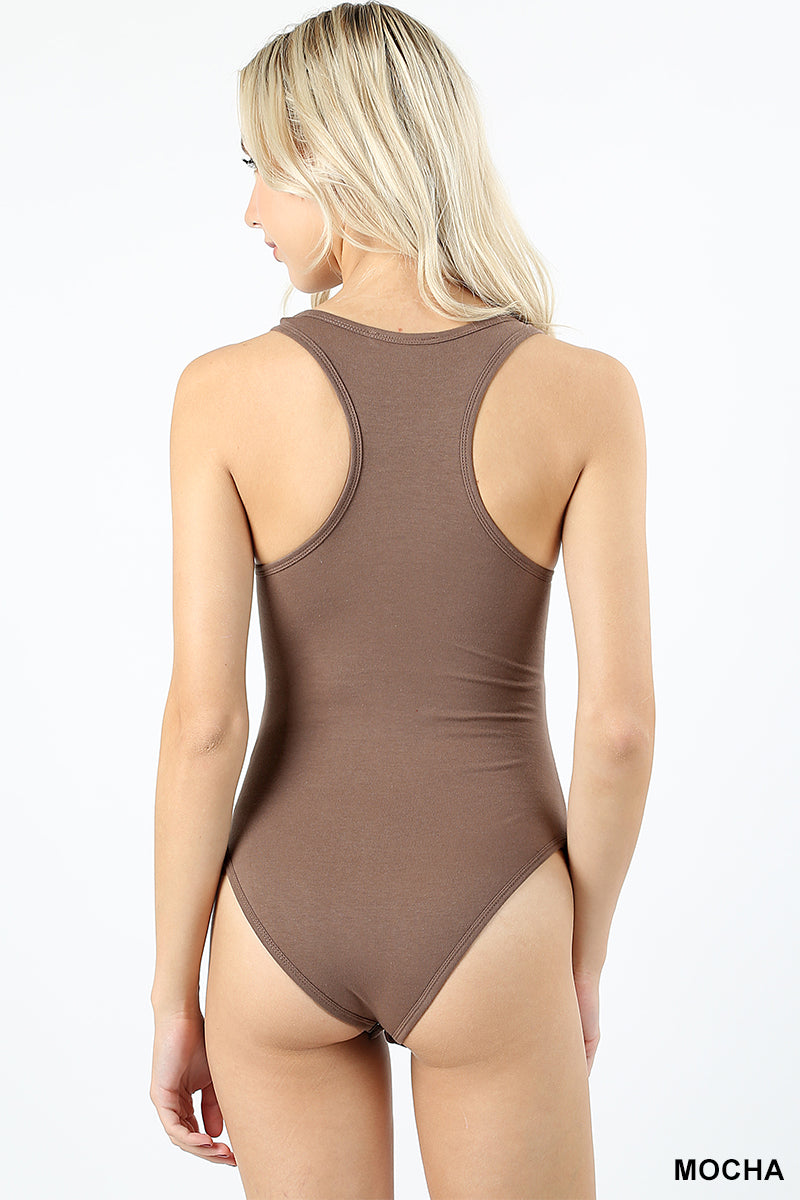 PREMIUM COTTON RACER BACK TANK BODY SUIT - Zenana Outfitters Women's Clothing