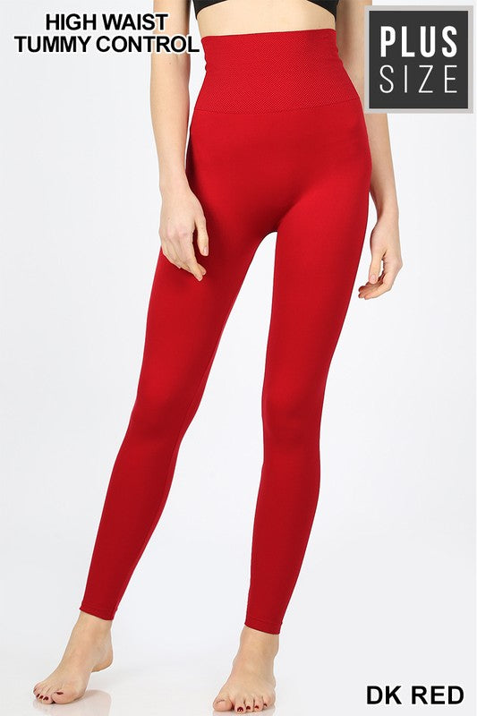 c32c2ee27c PLUS HIGH WAIST DIAMOND BAND SEAMLESS LEGGINGS - Zenana Outfitters Women s  Clothing