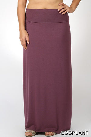 PLUS PREMIUM RAYON RELAXED FIT MAXI SKIRT - Zenana Outfitters Women's Clothing