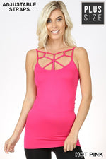 PLUS SEAMLESS WEB DETAIL FRONT CAMI