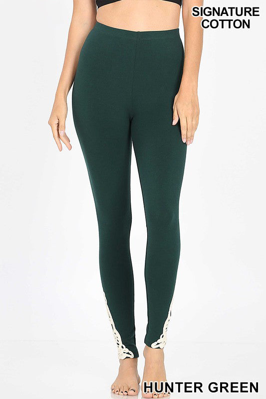 ANKLE PATCH FULL LENGTH LEGGINGS - Zenana Outfitters Women's Clothing