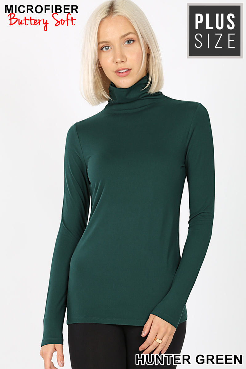 PLUS PREMIUM MICROFIBER MOCK NECK TOP - Zenana Outfitters Women's Clothing