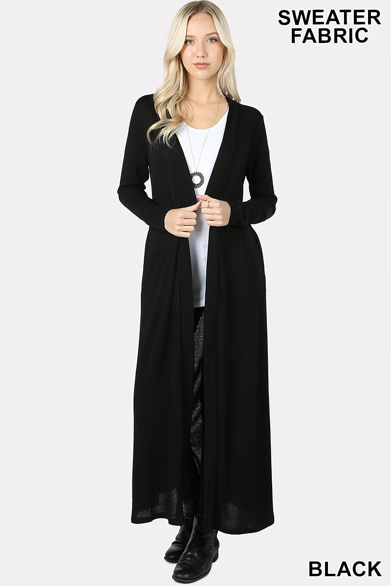 OPEN FRONT DUSTER LONG CARDIGAN