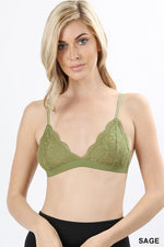 LACE STRETCH SOFT BRA WITH MESH LINING