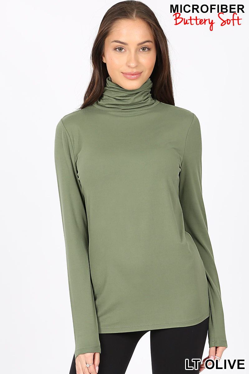 PREMIUM MICROFIBER MOCK NECK TOP - Zenana Outfitters Women's Clothing