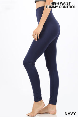 HIGH WAIST DIAMOND SHAPE BAND SEAMLESS LEGGINGS - Zenana Outfitters Women's Clothing