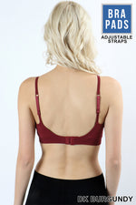 CLASSIC PADDED BRA WITH ADJUSTABLE STRAPS