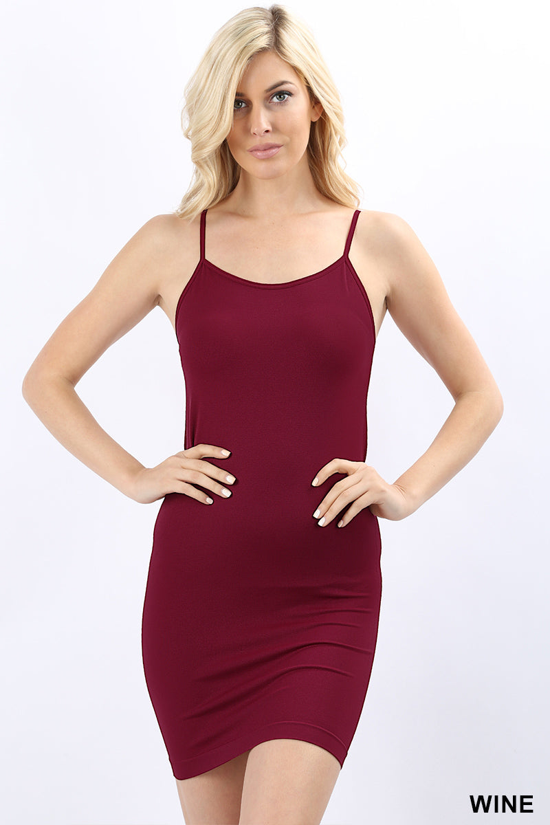 8f52844300d7a SEAMLESS ADJUSTABLE STRAP LONGLINE CAMI - Zenana Outfitters Women s Clothing