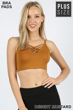 PLUS FRONT V LATTICE BRALETTE - Zenana Outfitters Women's Clothing