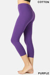 PREMIUM COTTON CAPRI LEGGINGS