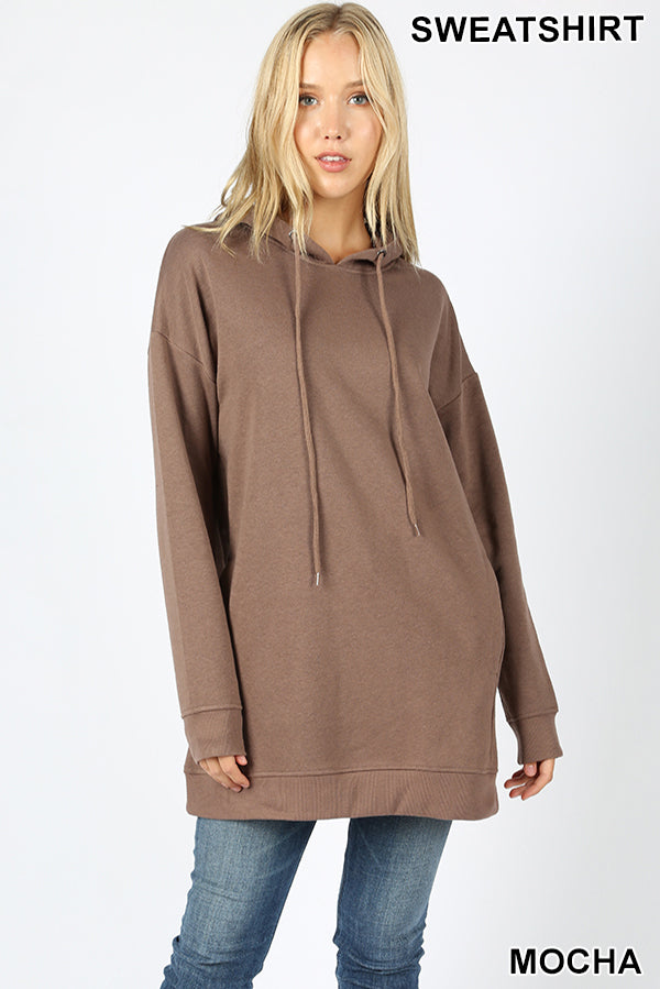 OVERSIZED HOODIE TUNIC LENGTH SWEATSHIRTS - Zenana Outfitters Women's Clothing